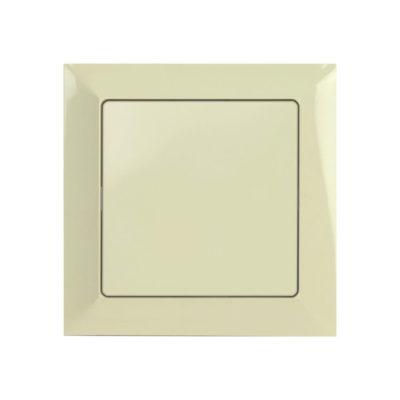 One way switch with frame – beige
