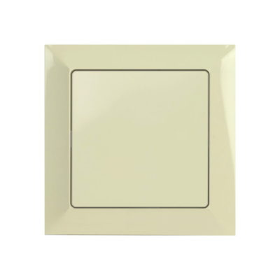 Two pole switch with frame – beige